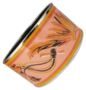 Hermès Hermes Pink and Orange Bangle Bracelet