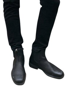 Blundstone Leather Comfortable Water-repellant Slip-resistant Black Boots