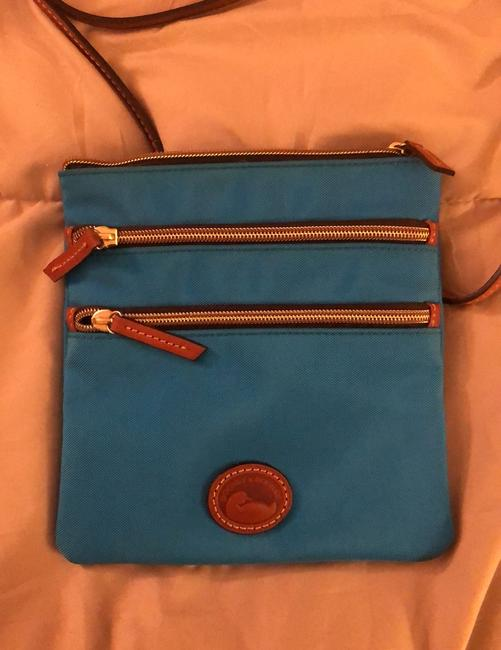 Item - And Turquoise Canvas Cross Body Bag