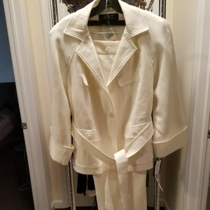 Signature by Larry Levine Belted Ivory Pantsuit