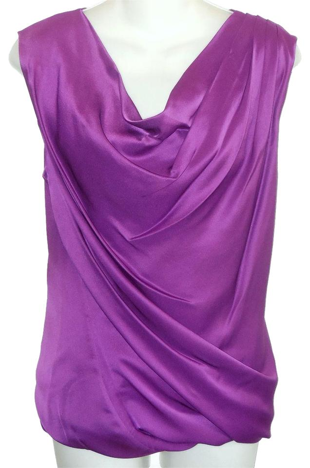 6sTradesy Ports Size Silk Purple Draped 1961 Blouse b6gf7y