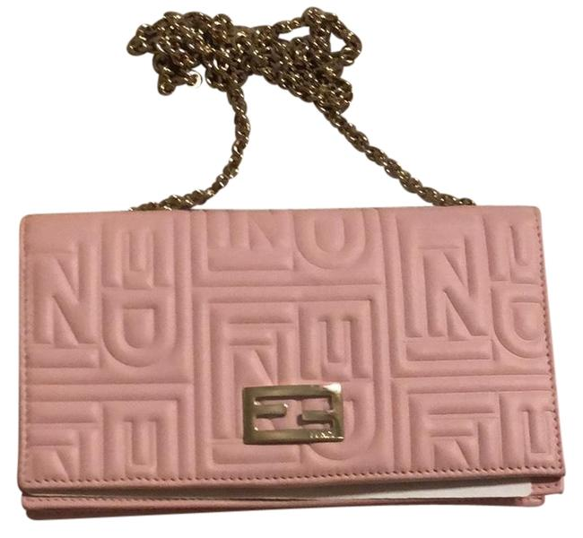Item - Wallet on Chain Pink Leather Baguette