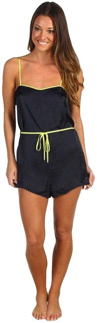 Item - Black and Yellow Size Small Satin Romper