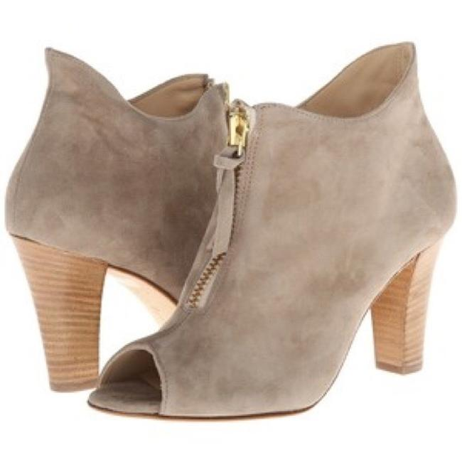 Item - Taupe 'topaz' Suede Peep Toe Boots/Booties Size US 7.5 Regular (M, B)