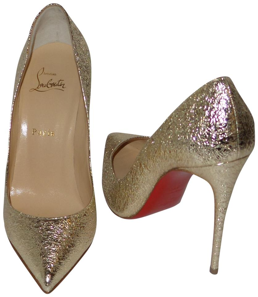 buy popular b0450 c2af4 Christian Louboutin Gold Pigalle Follies 100 Platine Specchio Pumps Size EU  39 (Approx. US 9) Regular (M, B) 12% off retail