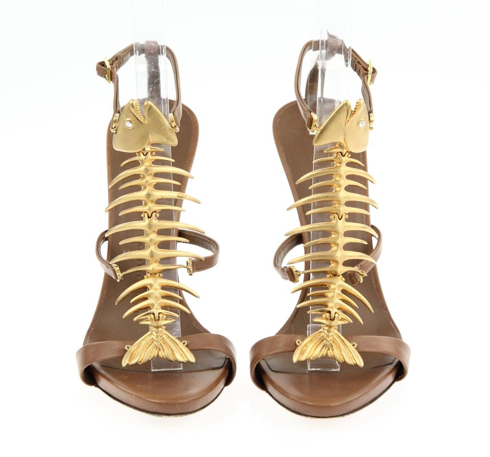 d8a1e4a135527 Giuseppe Zanotti Brown Fish Sandals Size EU 36.5 (Approx. US 6.5) Regular  (M, B) - Tradesy