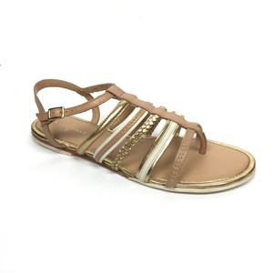 Cole Haan Tan, Gold Sandals