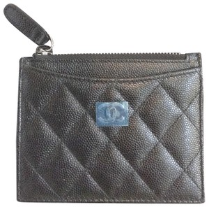 Chanel Authentic Chanel Black Iridescent Small Wallet