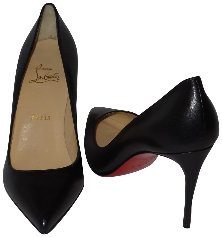 Christian Pigalle Louboutin Black Pigalle Christian Follies 85 Leather Pumps e8a4db