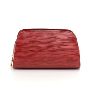 Louis Vuitton Louis Vuitton Dauphine Red Epi Leather Cosmetic Case Pouch
