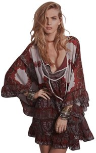 Free People short dress Chiffon Paisley Print Tunic on Tradesy