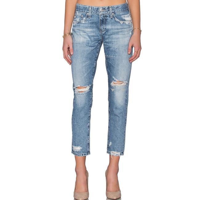 Item - 17 Years Folklore Distressed Embroidered Embellished Nikki Tomboy Boyfriend Cut Jeans Size 28 (4, S)