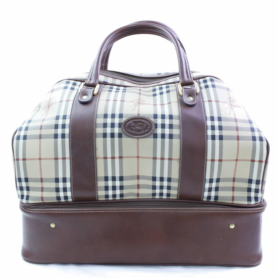 d3c768b9c8d7 Burberry Sac Sport Boston Keepall Duffle Gym Nova Check Travel Bag Image 0  ...