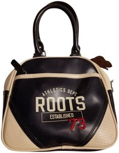 Roots Tote in Navy blue/cream