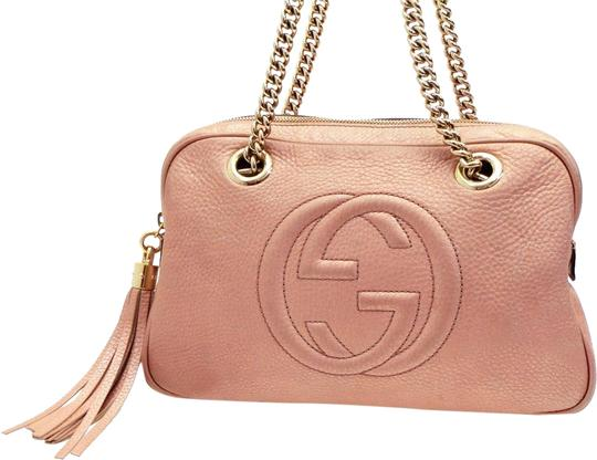 Gucci Camera Soho Sold 1 10 20 Lm Av Chain 227986 Pink Leather Shoulder Bag Tradesy