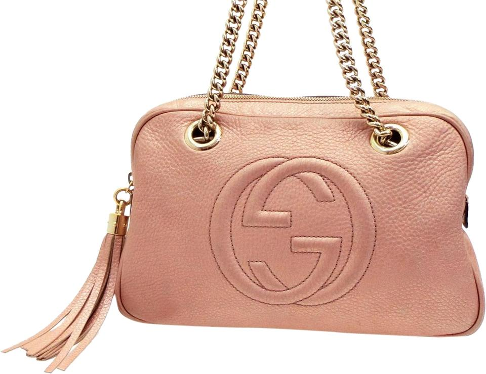 13e63c98165 Gucci Soho (Ultra Rare) Chain Camera 227986 Pink Leather Shoulder ...