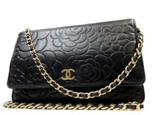 e1e39a3c4c66 Chanel Woc Classic Flap Wallet On Chain Caviar Limited Edition Cross Body  Bag. Chanel Wallet on Chain Camellia Embossed Flap 227945 Black Leather ...