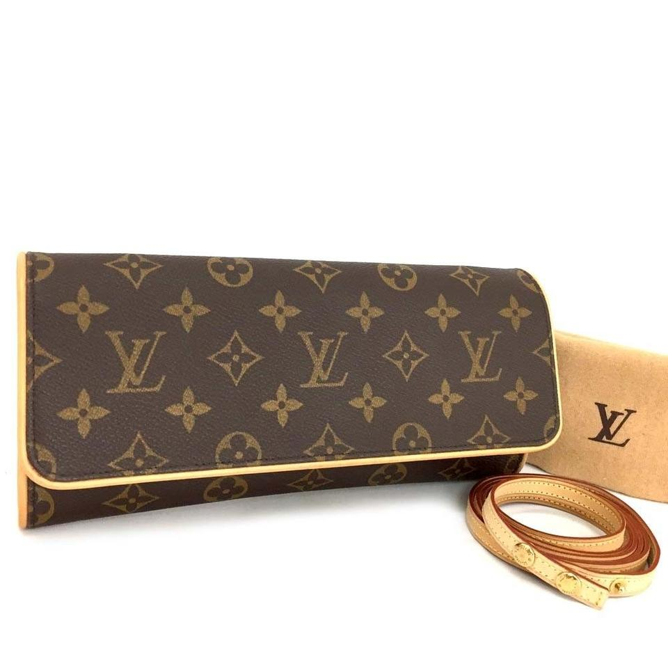 Louis Vuitton Monogram Canvas Pochette Pochette Twin Gm Leather Cross Body  Bag ... e868c1ca5e0ba