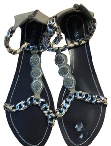 Rasolli silver and camel Sandals