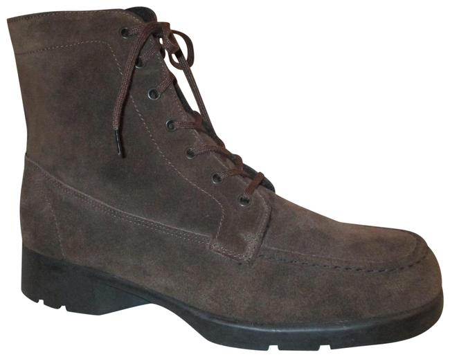 Item - Brown Suede Lace Up Ankle Boots/Booties Size US 10 Regular (M, B)