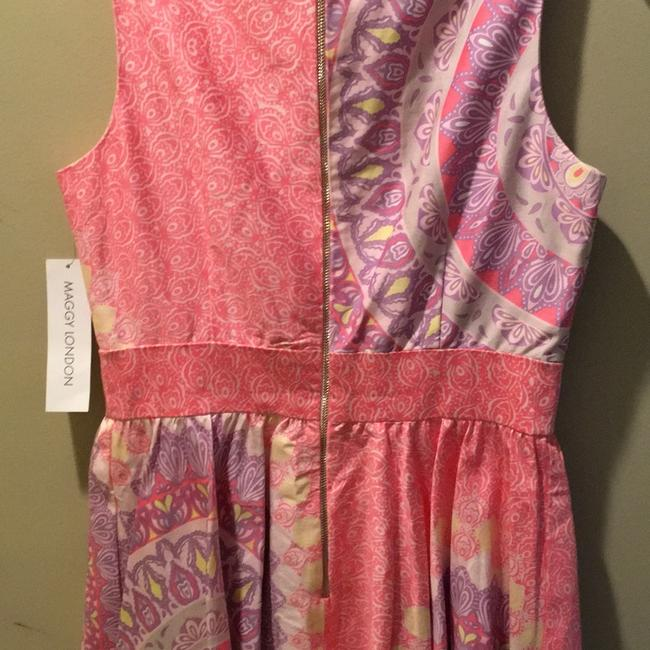 Maggy London Pink Combo Elegant Day Mid-length Work/Office Dress Size 8 (M) Maggy London Pink Combo Elegant Day Mid-length Work/Office Dress Size 8 (M) Image 6