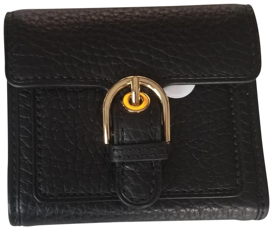 d767c5668fc3 Michael Kors NWT Michael Kors Black Leather Cooper Medium Carryall Trifold  Wallet ...