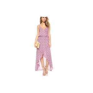 red and purple print Maxi Dress by Tiare Hawaii
