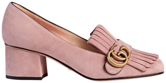 Item - Crystal Pink Marmont New Gg Suede Block 35.5 Pumps Size US 5.5 Regular (M, B)