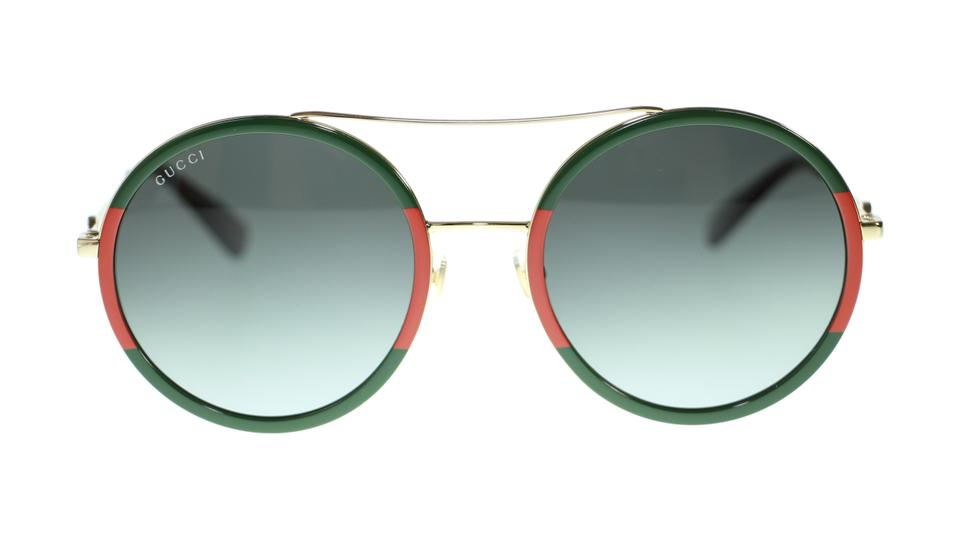 e62e2debe6 Gucci 003 Multi Gg0061s Round Green Red Fashion Oval Womens Sunglasses