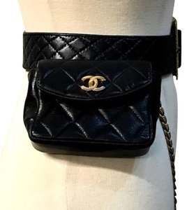 Chanel Satchel Rare Limited Edition Travel Black Lambskin and Patent ... 70116ecf66581