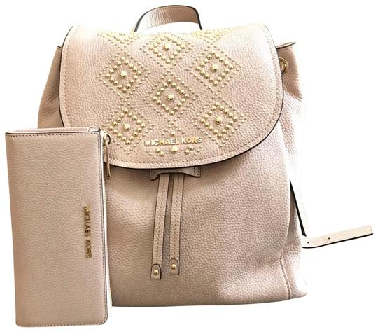 Michael Kors Leather Pale Blue 191935543530 Backpack Image 0