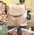 Michael Kors Leather Pale Blue 191935543530 Backpack Image 1