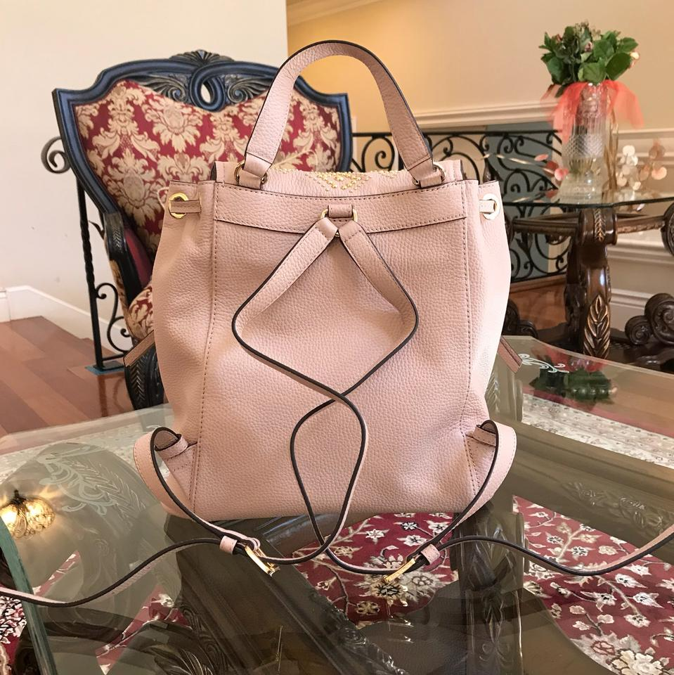 fe228fa49d57 Michael Kors Leather Pale Blue 191935543530 Backpack Image 11.  123456789101112