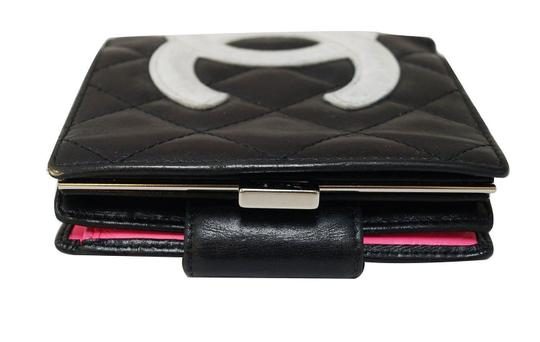 Chanel CHANEL Black Quilted Ligne Cambon Bifold Compact Wallet Image 1