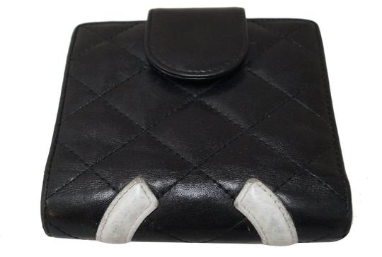 Chanel CHANEL Black Quilted Ligne Cambon Bifold Compact Wallet Image 2