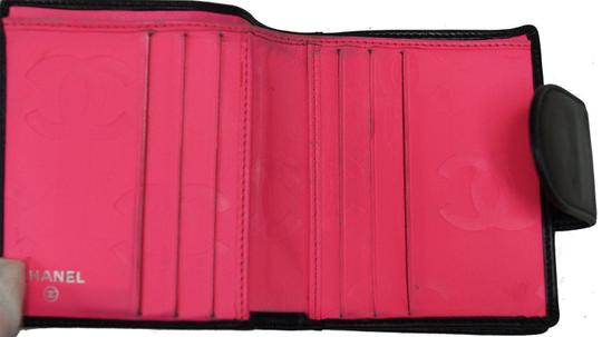 Chanel CHANEL Black Quilted Ligne Cambon Bifold Compact Wallet Image 5