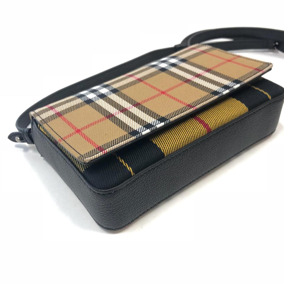 d0cf8f314b56 Burberry London Vintage Check and Leather Wallet with Detachable ...