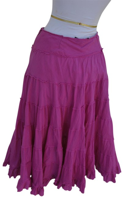 Item - Pink Layered Bohemian Look Skirt Size 4 (S, 27)