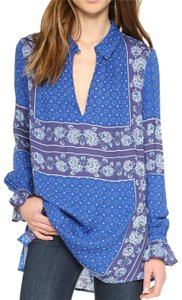 Free People Longsleeve Paisley Floral Print Tunic