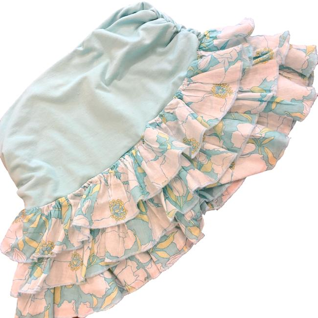 Item - Blue Floral Early 2000s Tiered Ruffle Skirt Size 0 (XS, 25)
