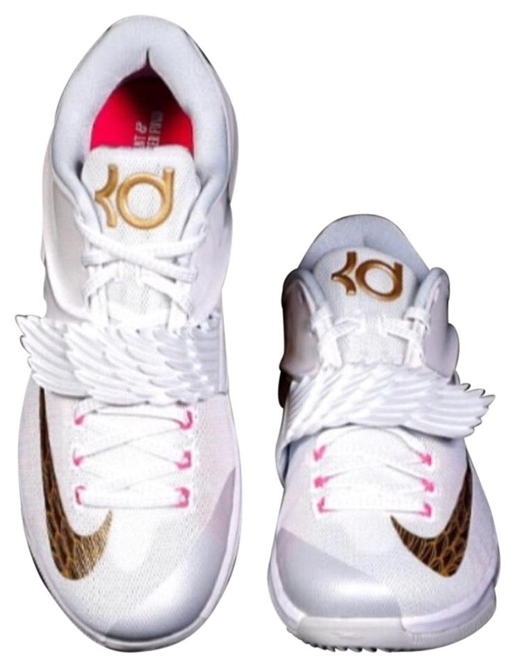 4551abb3617 ... kd 7 aunt pearl basketball shoes 7fd0b 13d70  order nike white gold and  pink athletic 0952a 40096