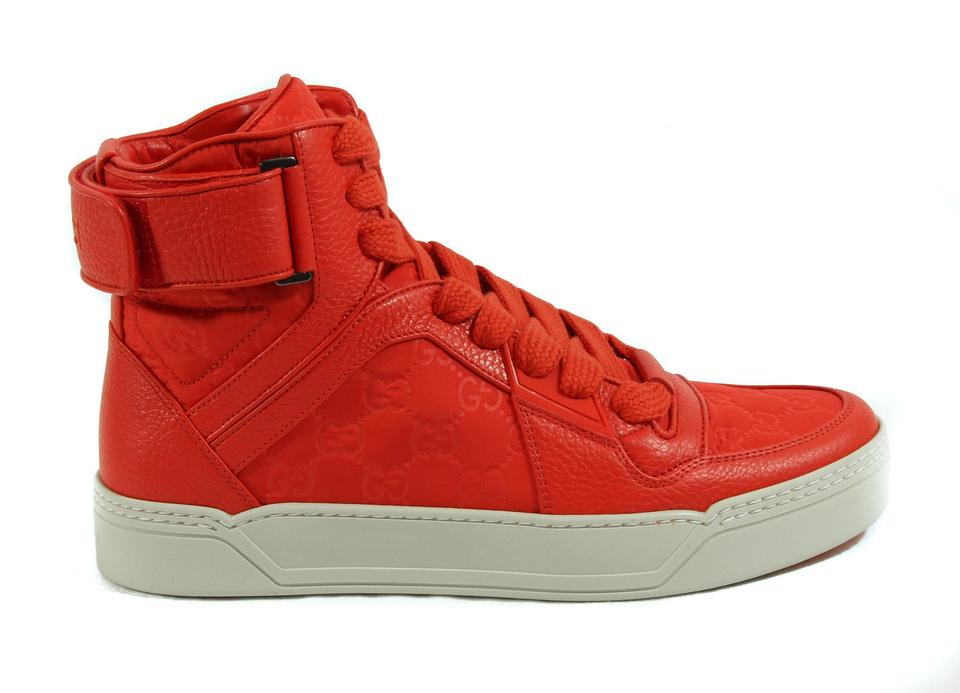 f02c0bb765b Gucci High Top Sneaker Sneakers High Top Sneakers Orange Athletic Image 9.  12345678910
