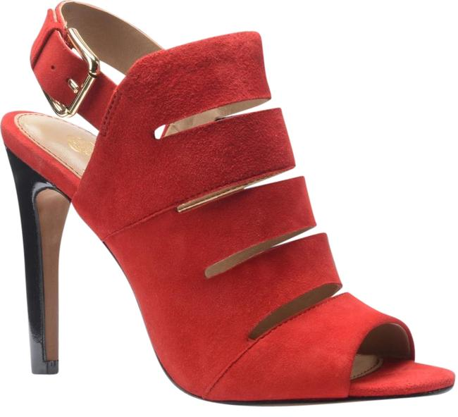 Item - Red Ballencia In Fire Suede Sandals Size US 7.5 Regular (M, B)