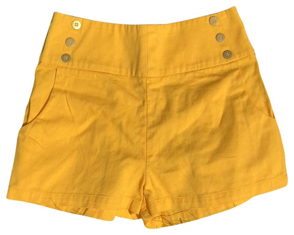 Lucca Couture Yellow High Waisted Shorts Size 00 (XXS f1f6b2d976d