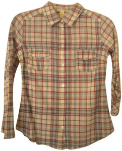 Ambiance Adjustabletab Plaid Button Front Button Down Shirt Multi-Color