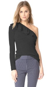 Rebecca Taylor Blend Soft + Sumptuous Band Of Ruffles Knit Casual Or Night Out Sweater
