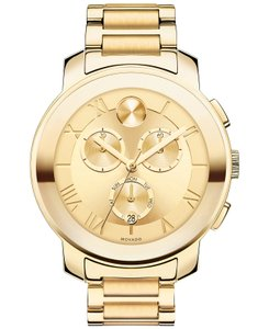 Movado Movado Bold Chronograph Yellow Gold-plated Watch - 3600209