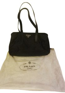 Prada Casual Full Length Leather Tote in Black