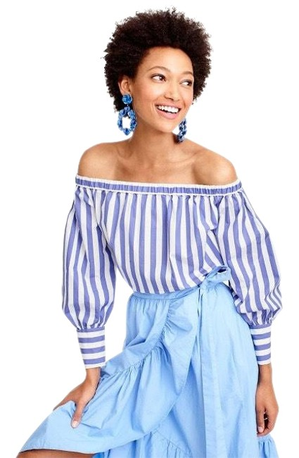 Preload https://img-static.tradesy.com/item/23322972/jcrew-blue-and-white-collection-blouse-size-2-xs-0-1-650-650.jpg