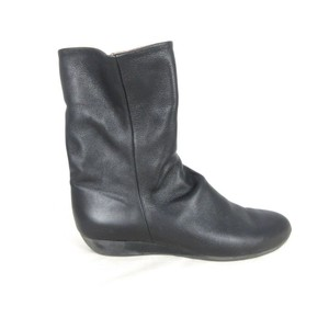 Arche Slouch Leather Black Boots